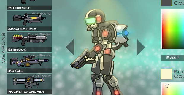 weapons in new version of raze game
